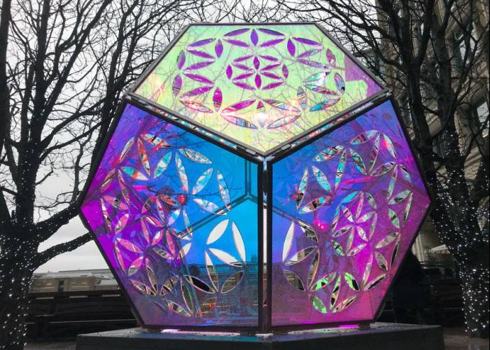 Dazzling Dichroic Dodecahedron - Winters Lights Festival
